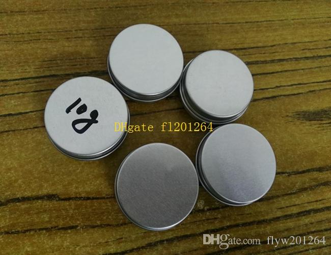 100pcs / lot Livraison Gratuite 10ml en aluminium boîtes de baume à lèvres conteneur, pots de crème en aluminium de 10g avec couvercle à vis pot cosmétique bocal