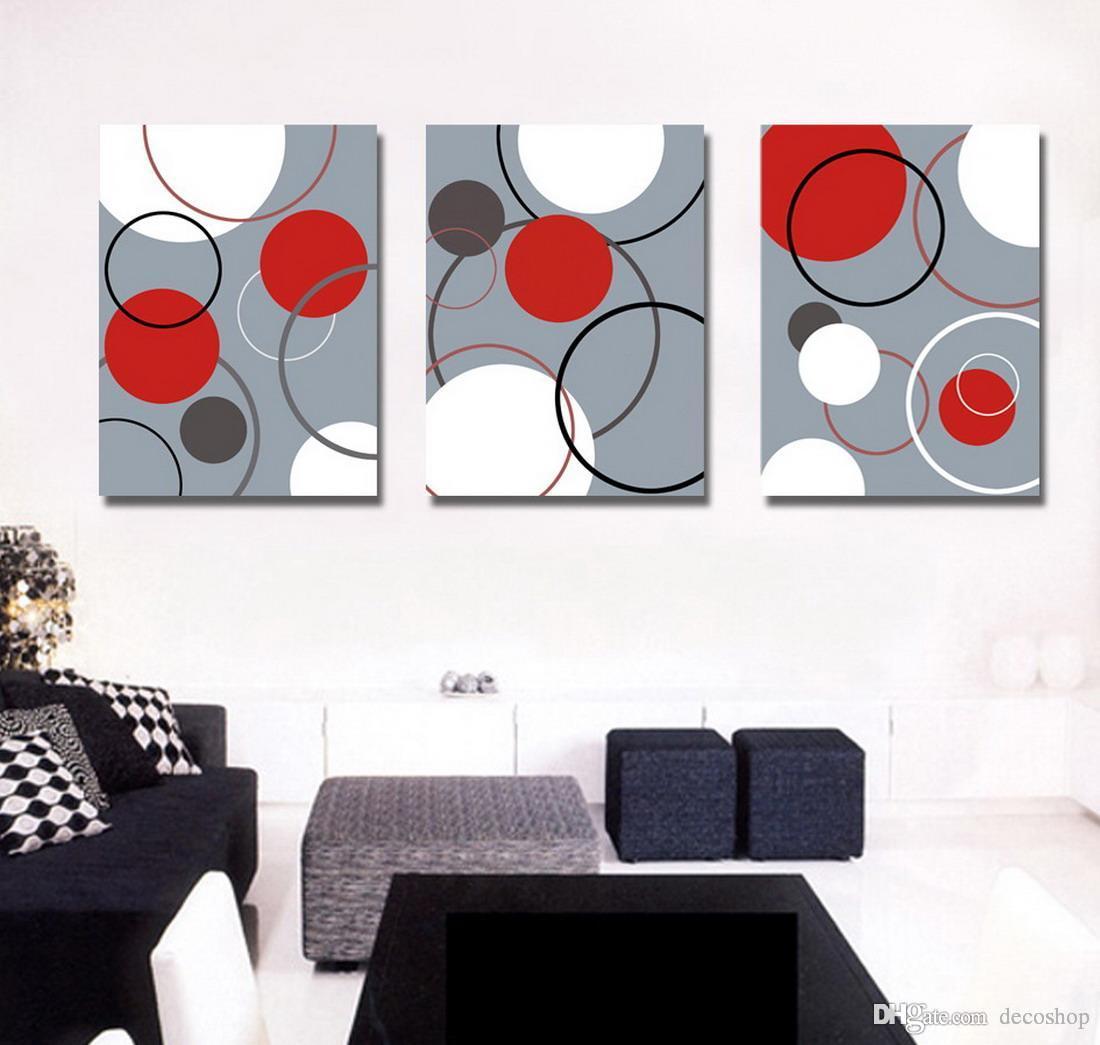 캔버스 벽 아트 홈 장식 세트 30037에 현대 추상 회화 Giclee 인쇄