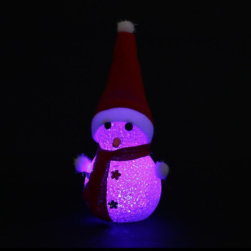 Decorações de natal led piscando luminosa boneco de neve de natal crianças presentes de natal
