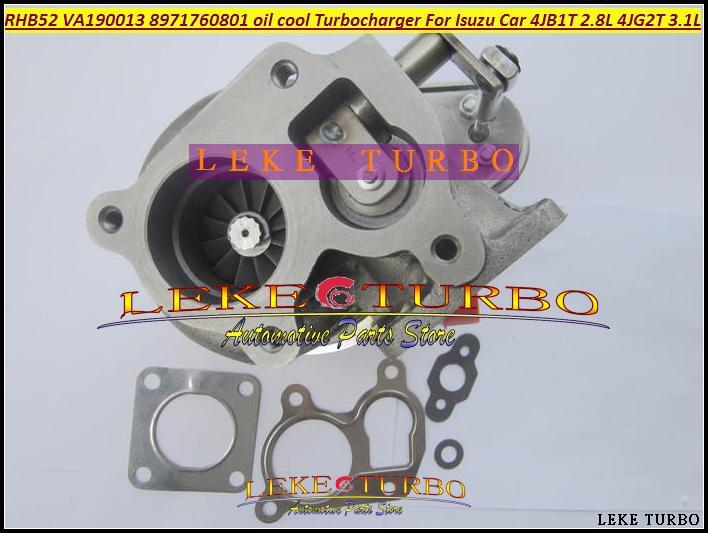 Turbo For ISUZU Car Engine 4JB1T 2.8L 4JG2T 3.1L RHB52 VA190013 8971760801 oil cooled Turbocharger with Gaskets (2)