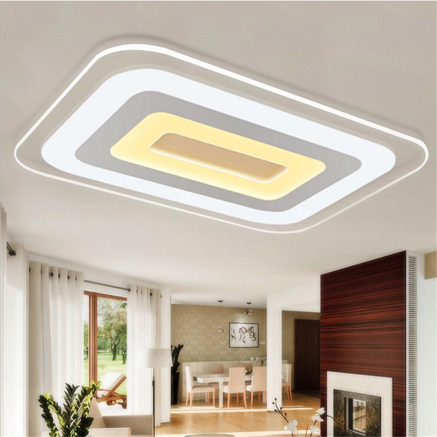 Rectangle Acrylic Modern Led Ceiling Lights Living Room Bedroom Ceiling Lamp New Lamps Lighting Ceiling Fans Lamp