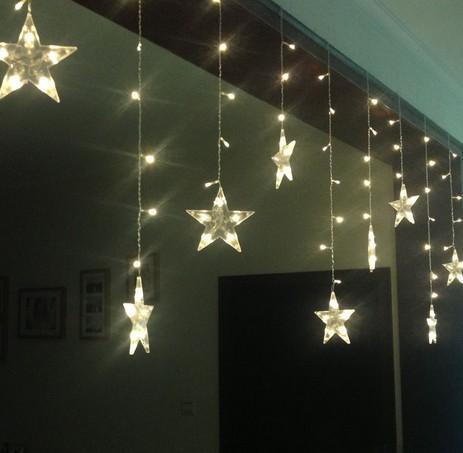 LED Weihnachtsschmuck Fenster schmückt Veranda Trennwand Tür Vorhang Ehe Raumaufteilung. Vorhang blinkt LED leuchtet Serie