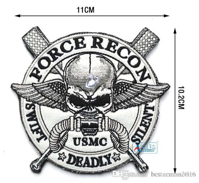 4.3*4 inch 3D Embroidered military Pacth with magic tape U.S. Marine Corps Patches recon US MC force Badge VP-12