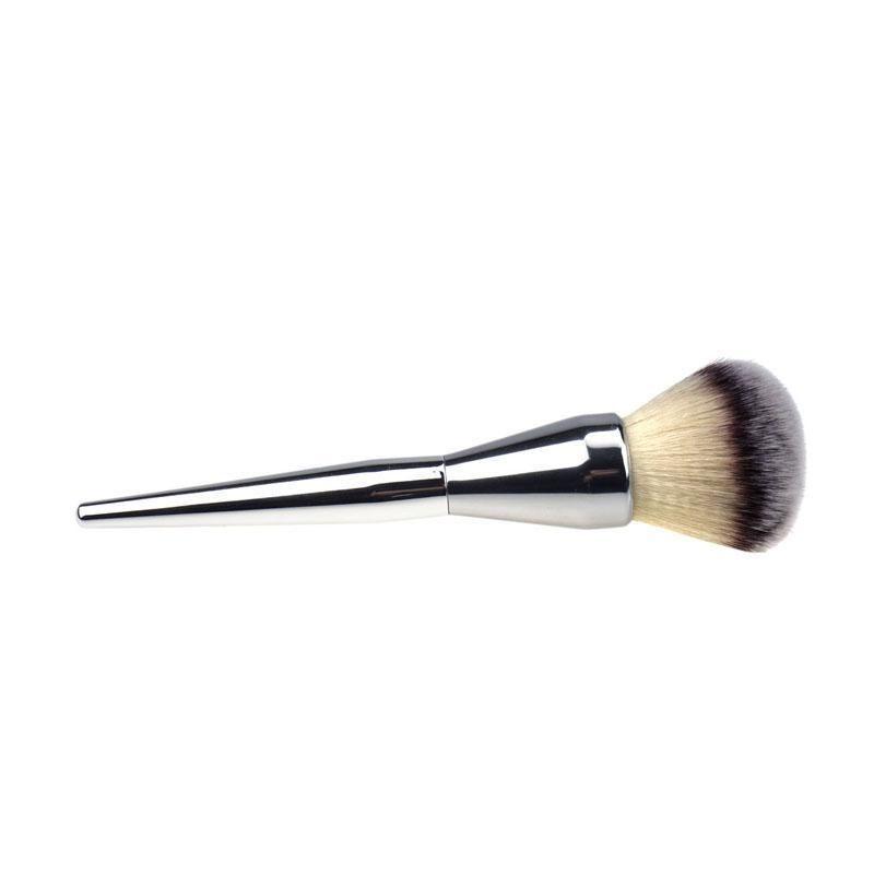 Изготовленный на заказ логотип принял горячие продажи лицо макияж Румяна порошок серебряный цвет ручки косметические большой макияж кисти красоты