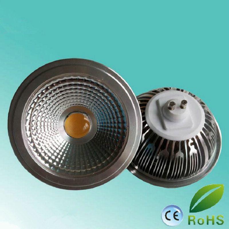 AR111 QR111 ES111 GU10 LED lampe 15W entrée AC85-265V / DC12V Spotlight COB lumière Blanc chaud Ampoule G53 / Blanc Froid Dimmable