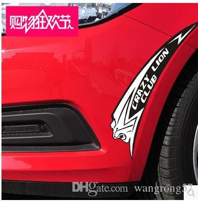 2018 lions blocked scratches stickers reflective stickers car stickers bumper sticker wheel eyebrow personalized custom car stickers from wangrong57