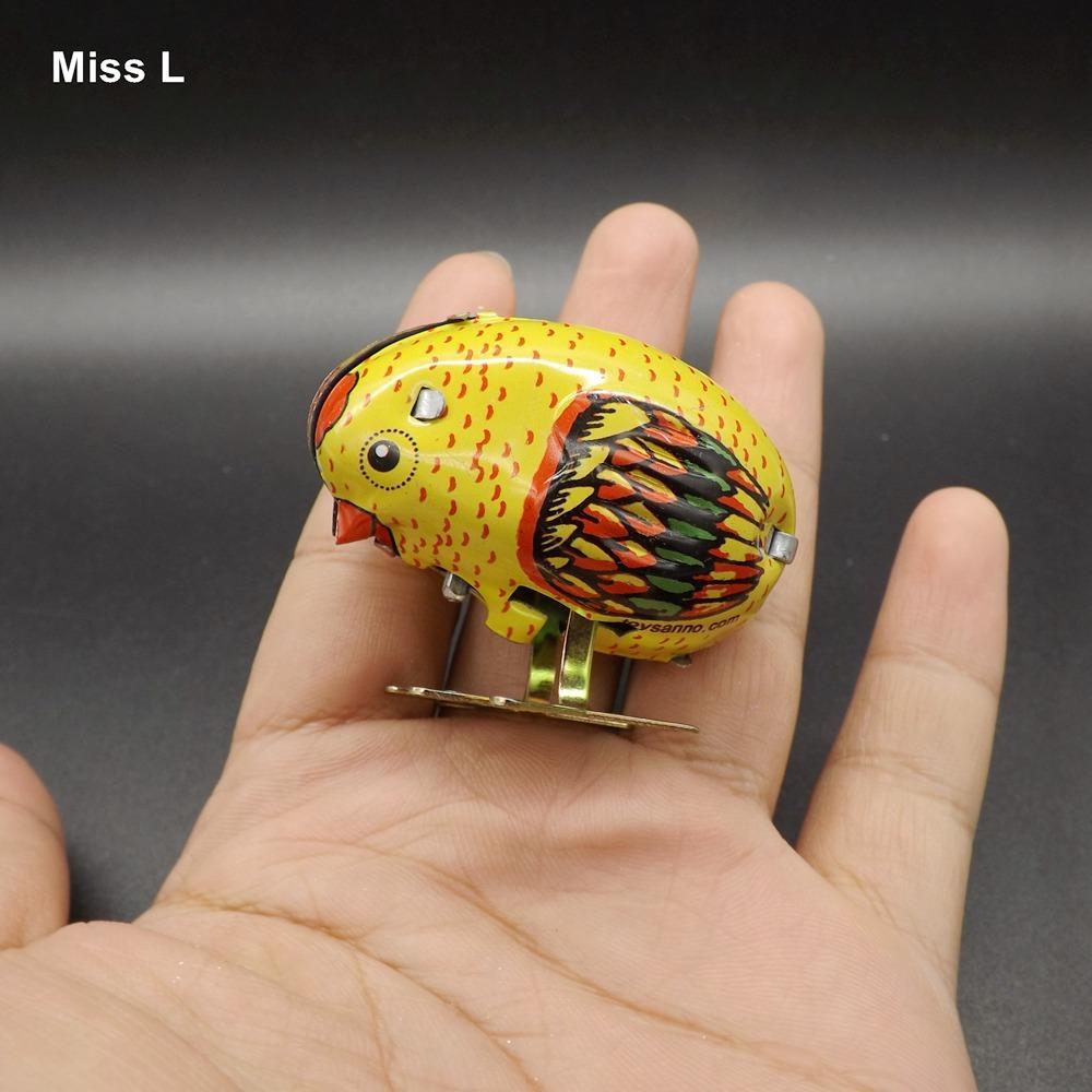 Wind Up Toys Animal Robot Pollo picoteando Modelos de metal Tire del juguete interactivo para niños para niños