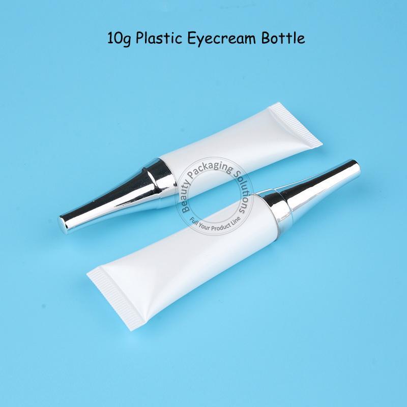 30 unids / lote recién llegado de plástico vacío 10g tarro de crema para ojos blancos pequeña botella de emulsión envase de cosméticos de 10 gramos mujeres
