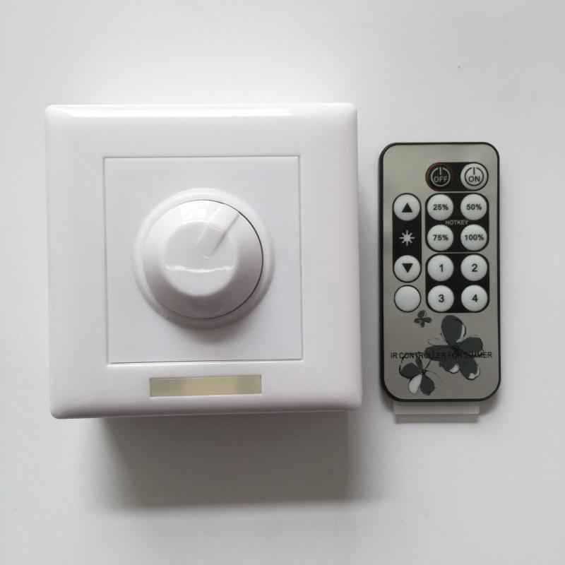 DC12-24V LED Dimmer IR Remote control 12 keys Knob Operating Switch For dimmable LED lights dimmer