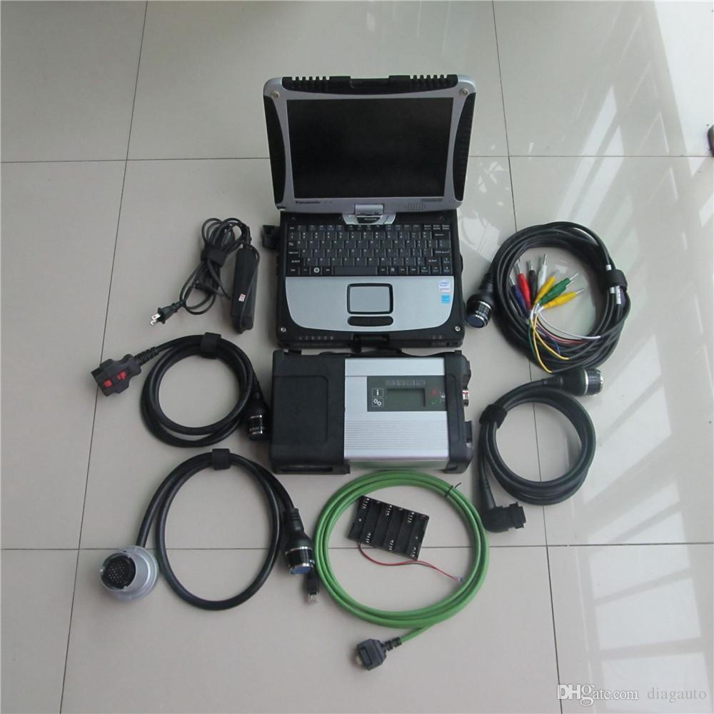 2017 Nouvelle arrivée de diagnostic Outil MB STAR C5 CONNECT SD avec un ordinateur portable Toughbook CF-19 3g ram courir vite installé hdd 320gb