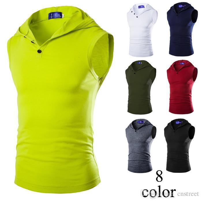 T-shirts sans manches pour hommes T-shirts à manches longues