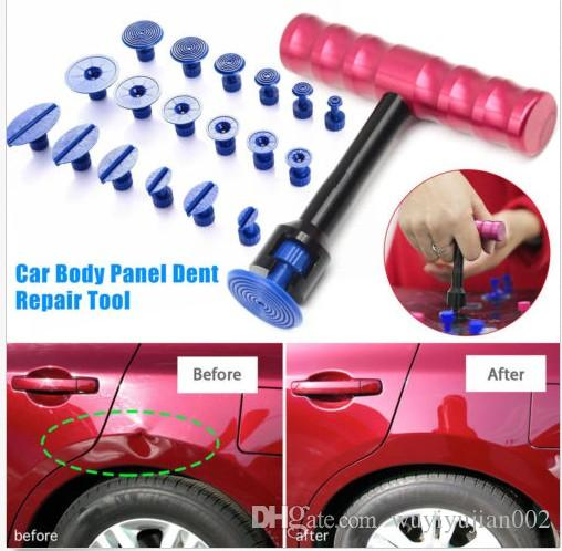 18× PDR Tool Dent Lifter Car Body Glue Puller Tabs Paintless Hail Repair Removal