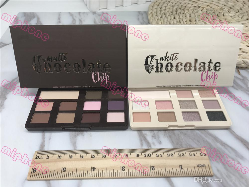 White Chocolate Chip Eye Shadow Makeup Too Matte chocolate chip eyeshadow Palette 11 colors Makeup eyeshadow Face with chocolate smell