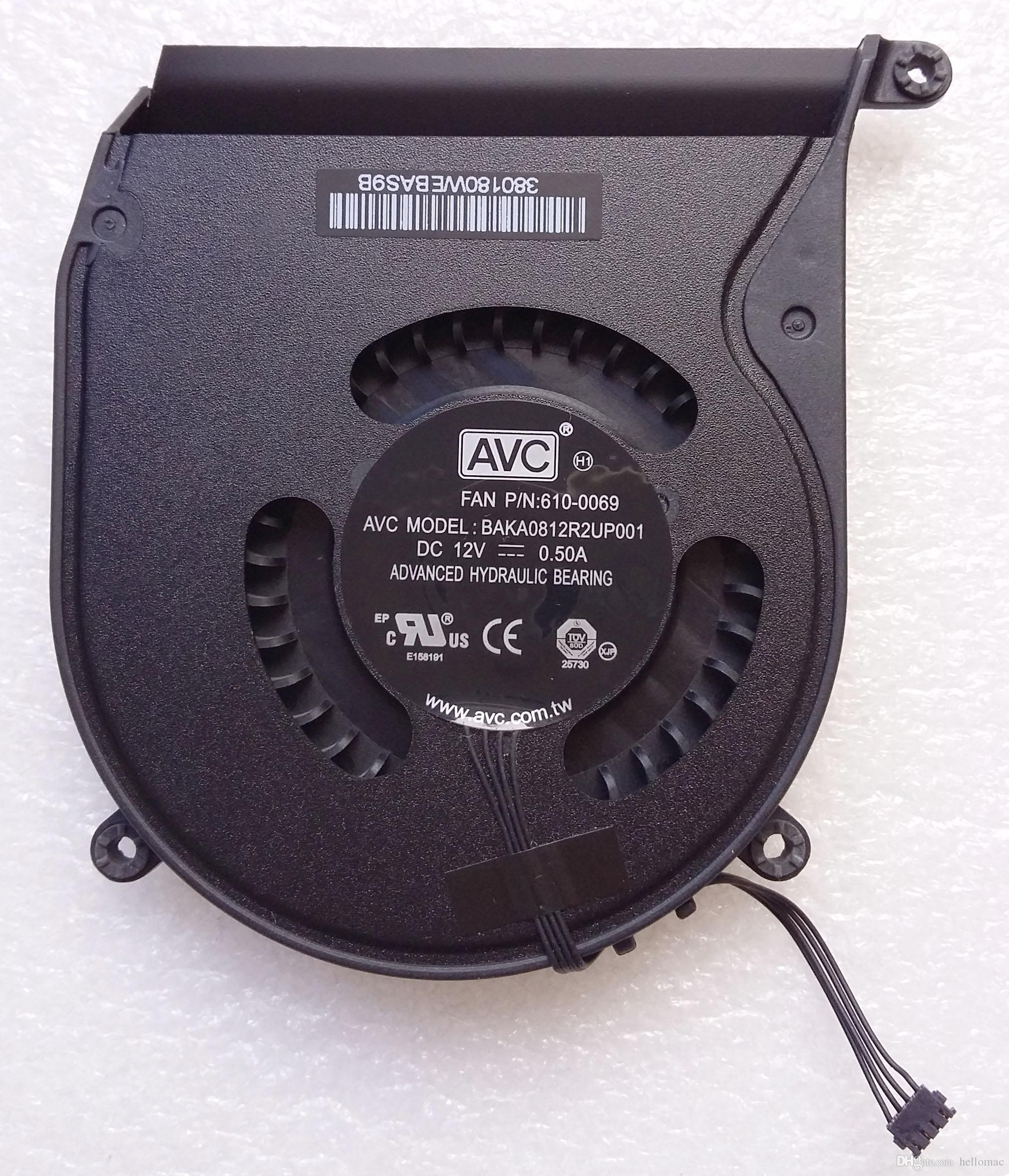 New AVC BAKA0812R2UP001 DC12V 0.50A COOLING FAN FOR APPLE FAN P//N:610-0069 Apple Mac Mini A1347 Mid 2011 COOLING FAN