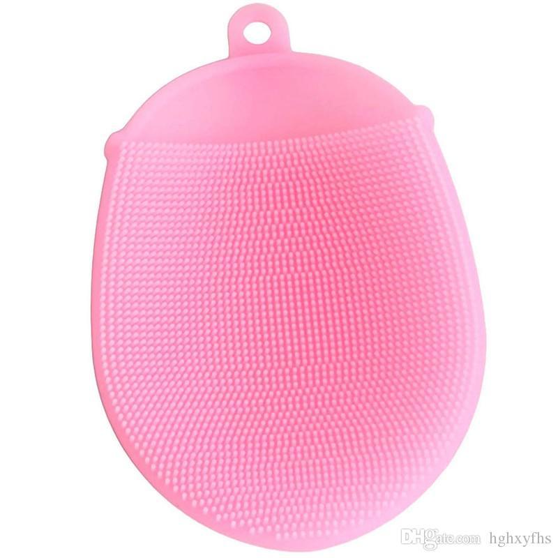 Spazzole per il bagno Lavaggio dei capelli Guanto per massaggio Spazzola Pettine Scalp Doccia Pulizia del corpo Scrub Pelle Back Head Palle in silicone per bambino adulto
