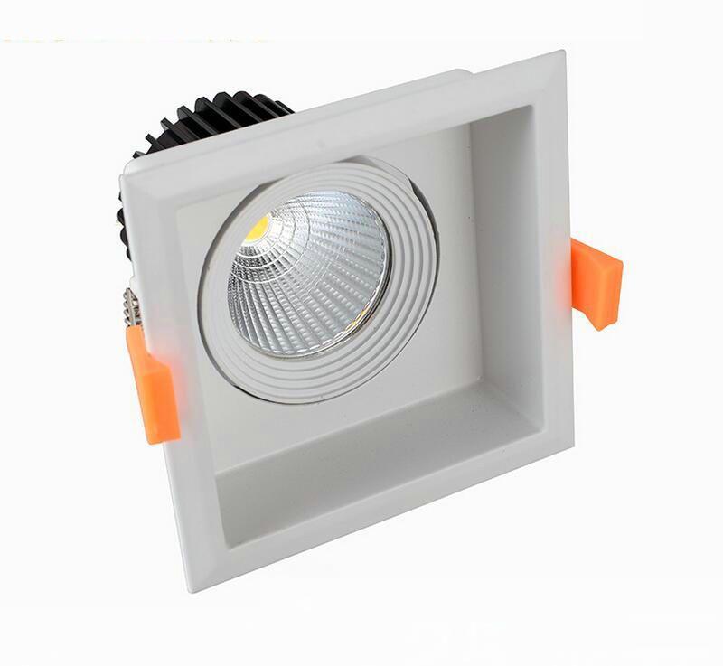 LIVRAISON GRATUITE 1 * 15W COB plafonnier de LED AC110V / LED Downlight AC220V-240V Spotlights Décoration d'intérieur LED à encastrer