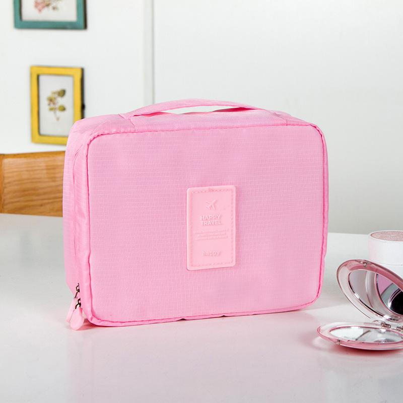 free shipping waterproof Nylon mesh traveling large capacity wash bag multifuctional makeup toiletry cosmetic bag size 21*16*8CM 6colors