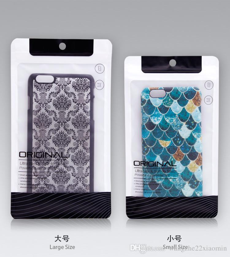 1000 pcs En Plastique Zipper Paquet de Détail Cas de téléphone portable emballage Pour Iphone 6 6 s plus 5 s 4 Samsung s4 s5 s6 bord Poly sac