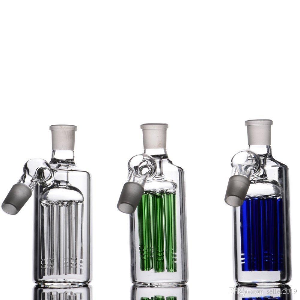 Favo de mel coletor de Cinza 18mm articulações verde azul claro apanhador de cinzas barato borbulhador grosso para bong cachimbos narguilé