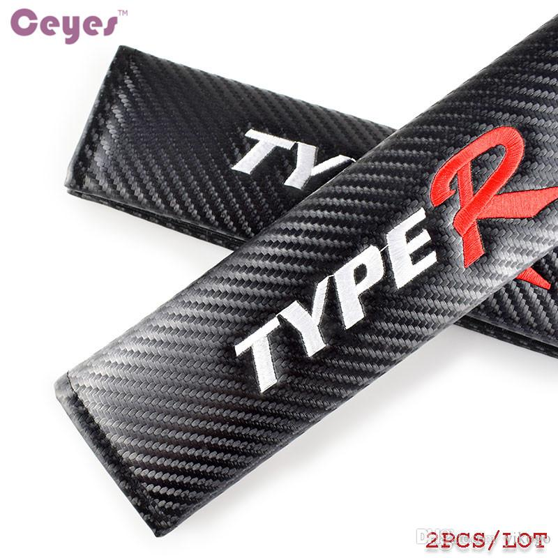 2019 Carbon Fiber Safety Belt Cover For TYPER Honda Civic