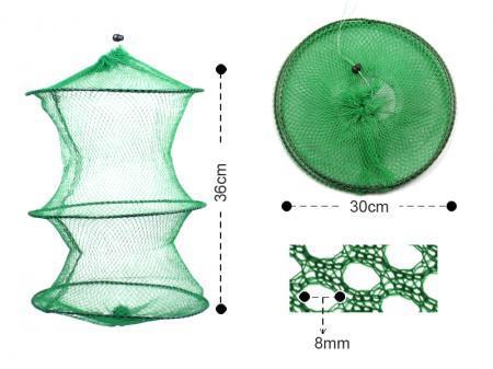 LOT5 Faltbarer Fischkorb Hummerkrebse Trap Hoop Net 47g