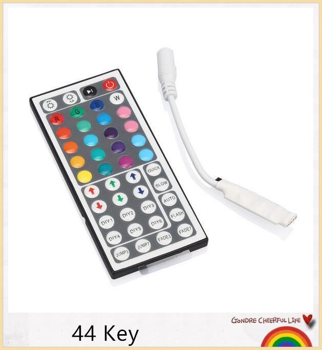 Dimmer de contrôleur à distance sans fil de 44 clés IR pour la lumière de bande menée par RVB 3528 5050