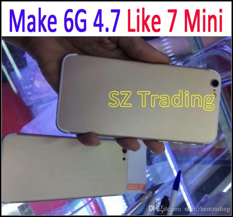 للحصول على اي فون 7 البسيطة العودة الإسكان استبدال البطارية المعدنية لفون 6 4.7 بوصة مثل ل iPhone7 نمط شحن مجاني