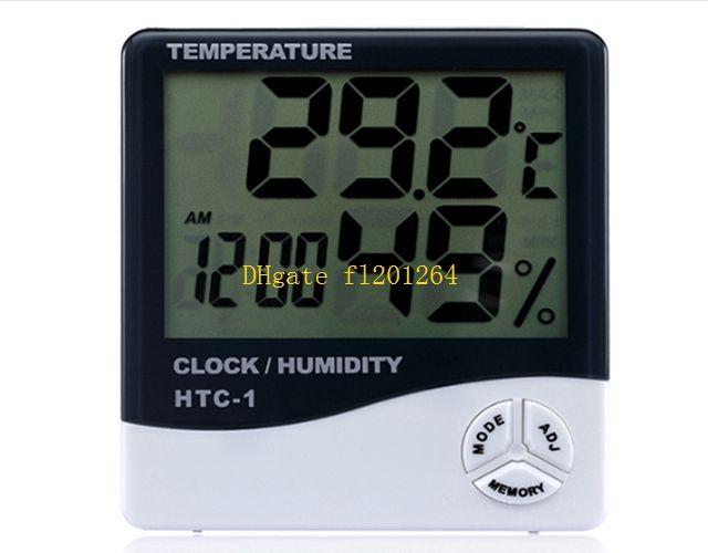 150pcs Livraison Gratuite Multifonction LCD Numérique Alarme Horloge Thermomètre Humidité Calendrier Compteur Horloge Heure Alarme Température
