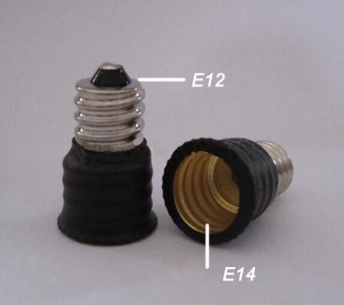 500pcs da E12 a E14 Portalampada Adattatore per presa Convertitore Base Light Changer