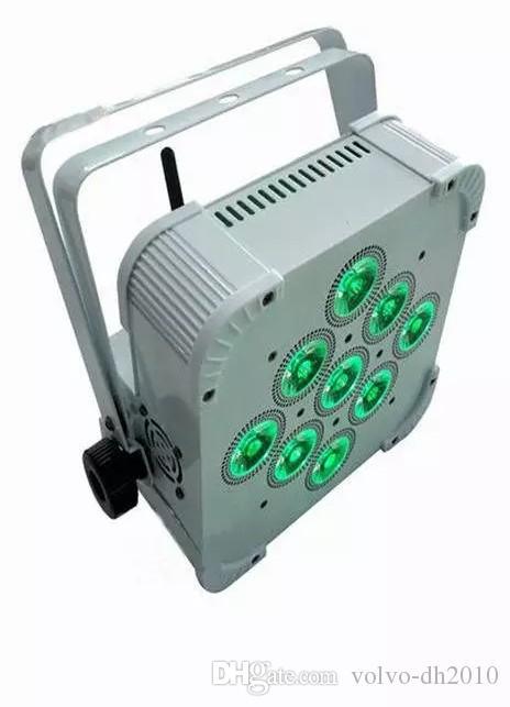 Vendita calda di trasporto libero 2017 senza fili alimentato a batteria ha condotto la luce par luminosa con 9 * 15w RGBWA + UV 6-in-1