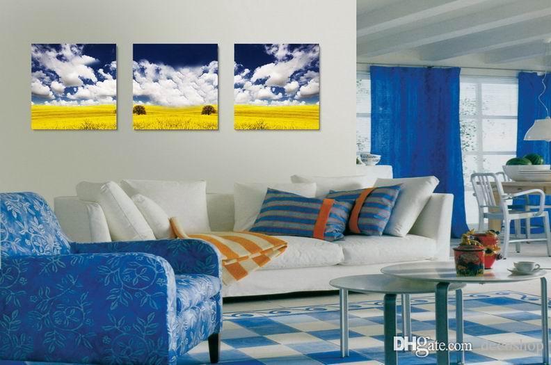 현대 아름 다운 풍경 자연 그림 Giclee 캔버스에 인쇄 홈 장식 벽 예술 Set30312