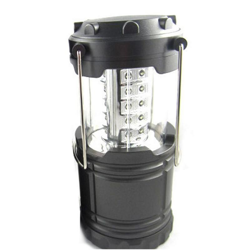 2015 Portable Camping Tent Lamp 30 LED Lantern Operated Battery Stretchable Suitable for Hiking/Camping