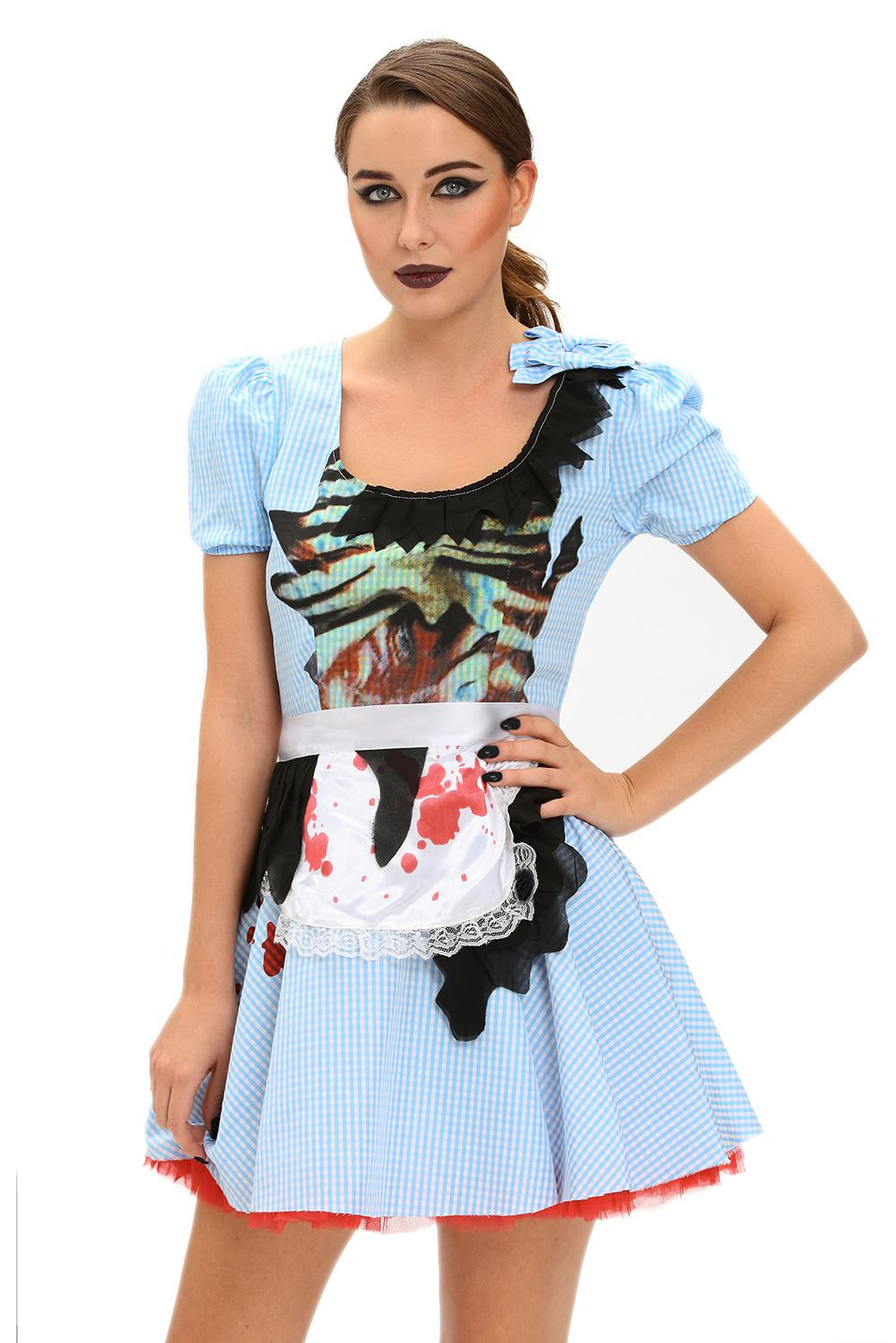 fashion stylish zombie kansas girl adult halloween costume 89011