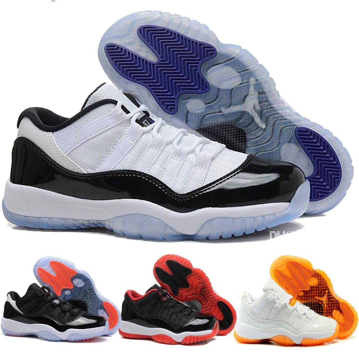 Retro 11 Low Basketball Shoes,Men Bred