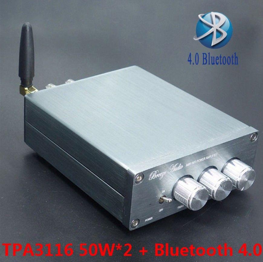 Neueste Freeshipping BL10A TPA3116 Bluetooth 4.0 Hifi Audio Digital Power Amplifier 50W + 50W 12V Amplificador Startseite AMP Finished