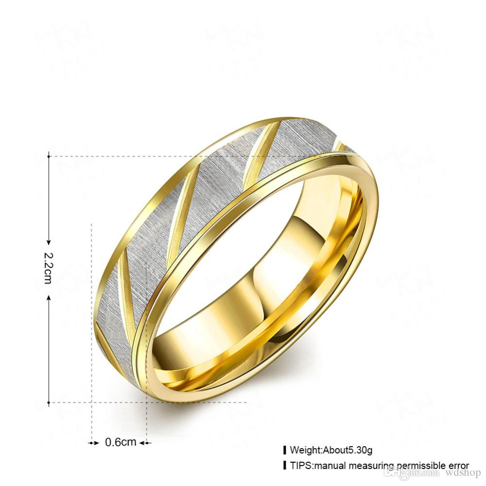 Buy Cheap Couple Rings For Big Save, Mix 2 Style 4 Size Simple ...