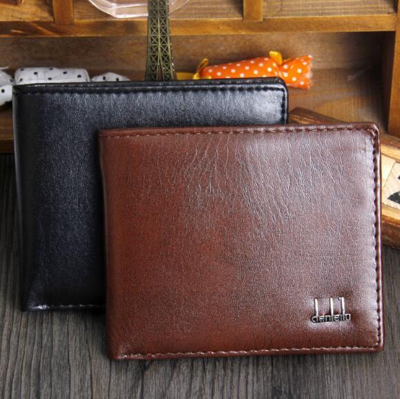 Portafoglio uomo vintage di marca Bifold marrone cuoio dell'unità di elaborazione frizioni di soldi borsa famosa qualità portafoglio nero del progettista per gli uomini vendita calda all'ingrosso