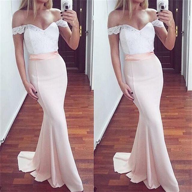 Off The Shoulder Prom Dresses 2017 Sexy abito da sera sirena Robe De Bal per le donne abiti da cerimonia formale del partito