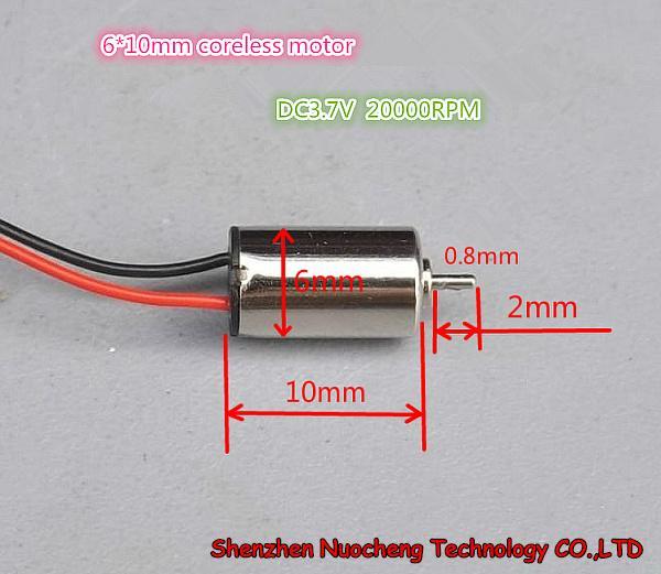 20pcs / lot! DIY DIY 장난감을위한 아주 새로운 6 * 10mm coreless 모터 3.7V 20000RPM 마이크로 DC 모터 ~