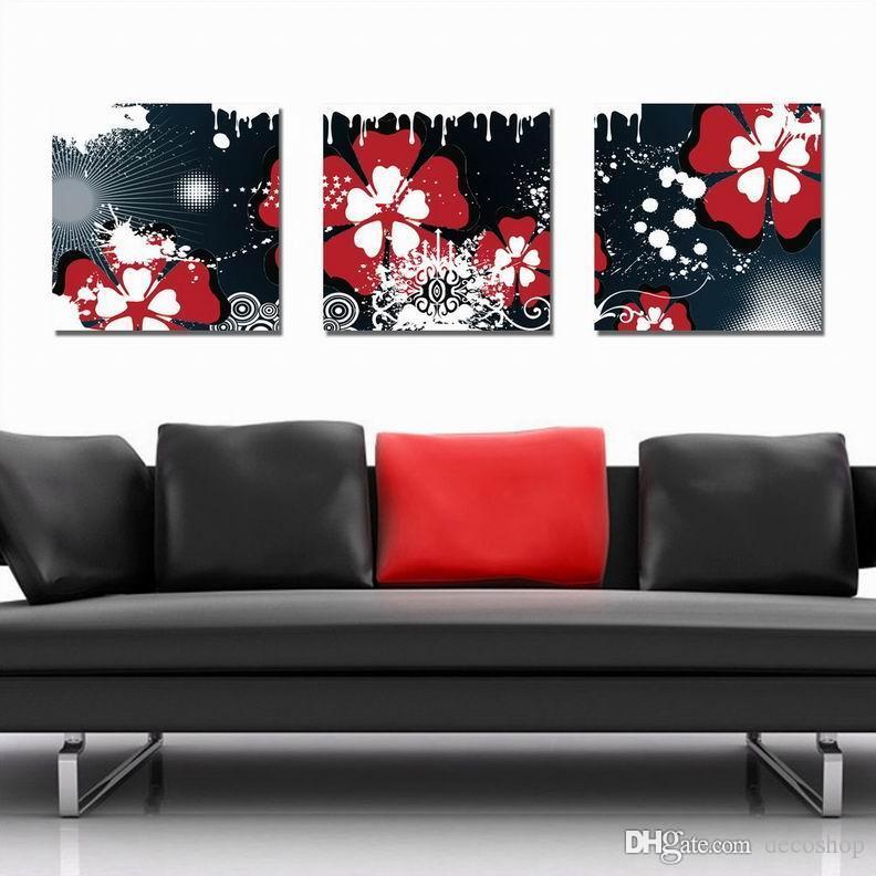 캔버스 홈 장식 벽 예술 Set30375에 현대 아름 다운 꽃 좋은 꽃 회화의 giclee 인쇄