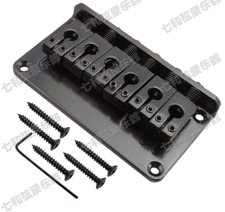 Cuerdas para guitarra Bridge 6 Saddle Hardtail Bridge Parte superior de carga Guitarra eléctrica Puente Guitar Parts Accessoreis