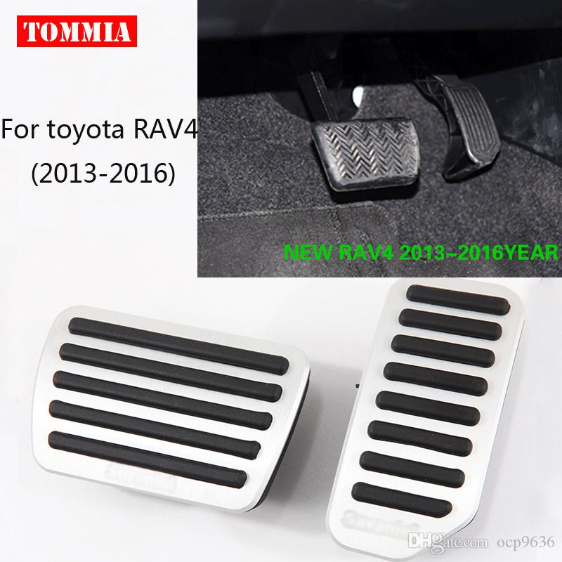 For Toyota RAV4 2013-2016 Pedal Cover Fuel Gas Brake Foot Rest Housing No Drilling Car-styling Free Shipping