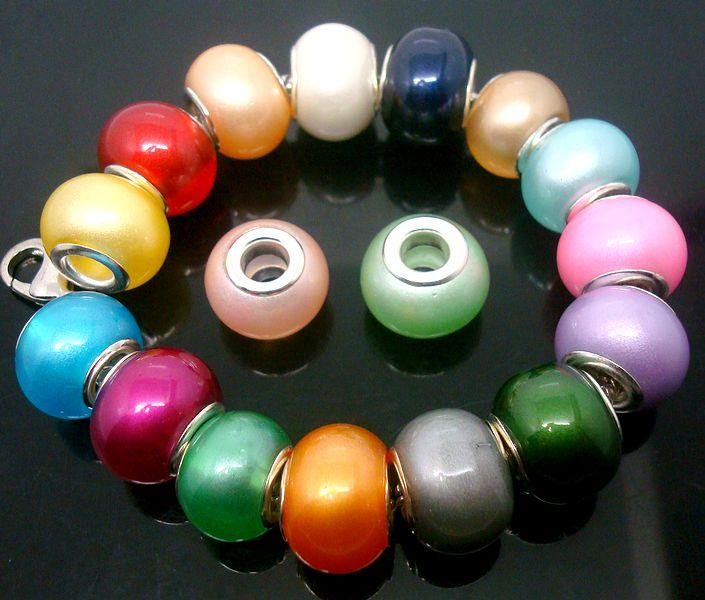 50pcs/Lot mixed Beautiful Imitation Pearl Glass Beads for Jewelry Making Loose Lampwork DIY Beads for Bracelet Wholesale in Bulk Low Price