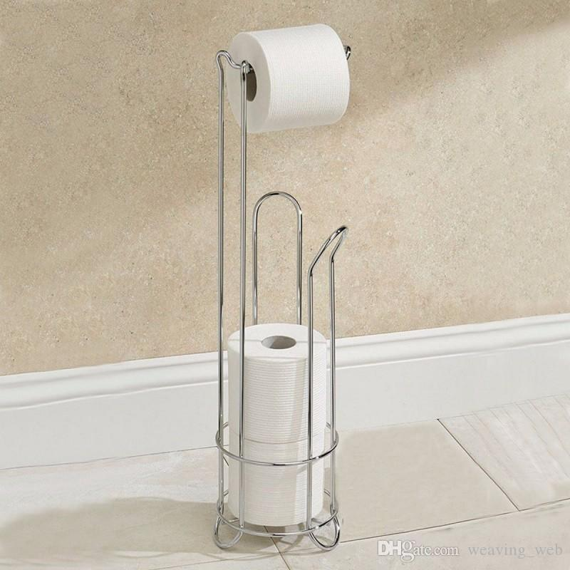 ... 2016 New DecoBros Toilet Tissue Paper Roll Holder Stand Plus Durable  Stainless Steel Toilet Paper Holder ...