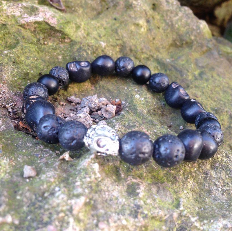 SN0427 Crânio Envoltório Pulseira De Pedra Crânio De Pedra Crânio de prata frisado pulseira para o homem Venda Quente Nova Chegada