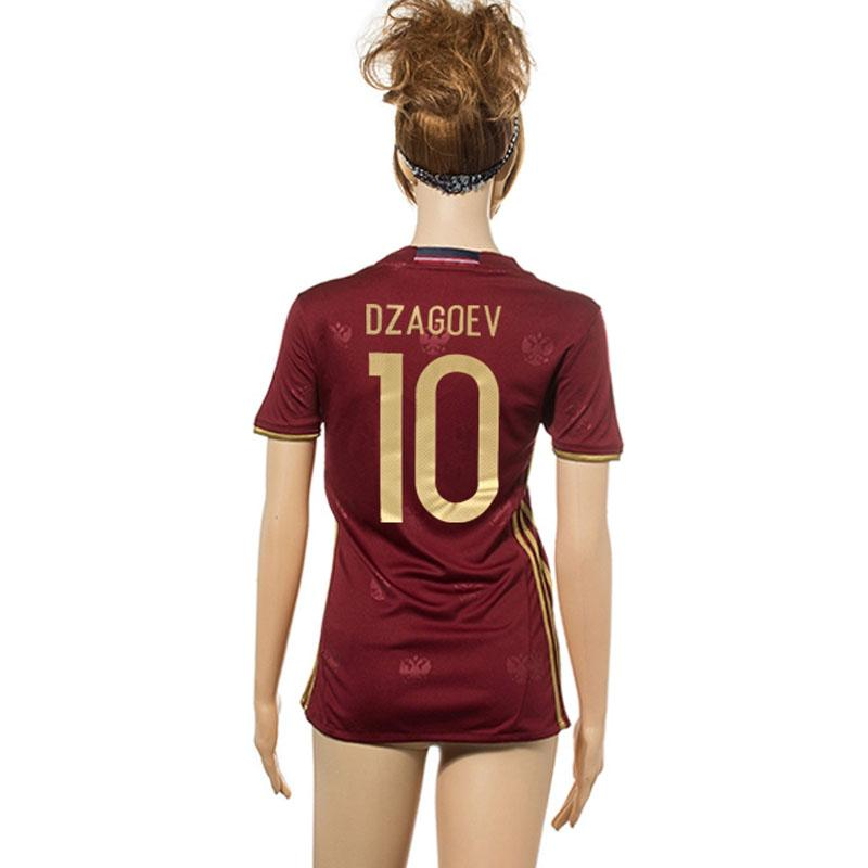 d78ad67f411 Women Russia Soccer Jerseys Euro 2016 Woman Girl Shirts Sets Dzyuba Dzagoev  16 17 Female Home Football Kits Soccer Uniforms Lady Jersey