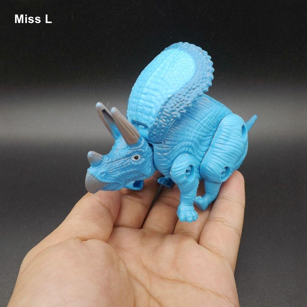 Triceratops Oeuf Dinosaure Jouets En Plastique Modèle Figurines Garçons Cadeau Esprit Jeu Casse-tête QI Jeu Jouet