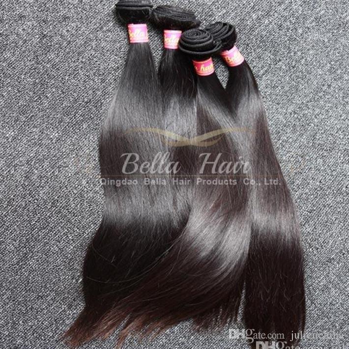 3pcs / lot Meilleur 9A Tranchés Cheveux Péruviens Trames 100% Naturel Couleur Soyeux Raide Extension de Cheveux Humains Livraison Gratuite