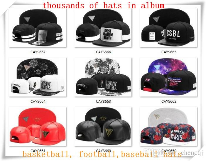Новый Snapback шляпы Cap Cayler сыновья Snap back бейсбол футбол баскетбол пользовательские шапки регулируемый размер груза падения выберите из альбома CY07