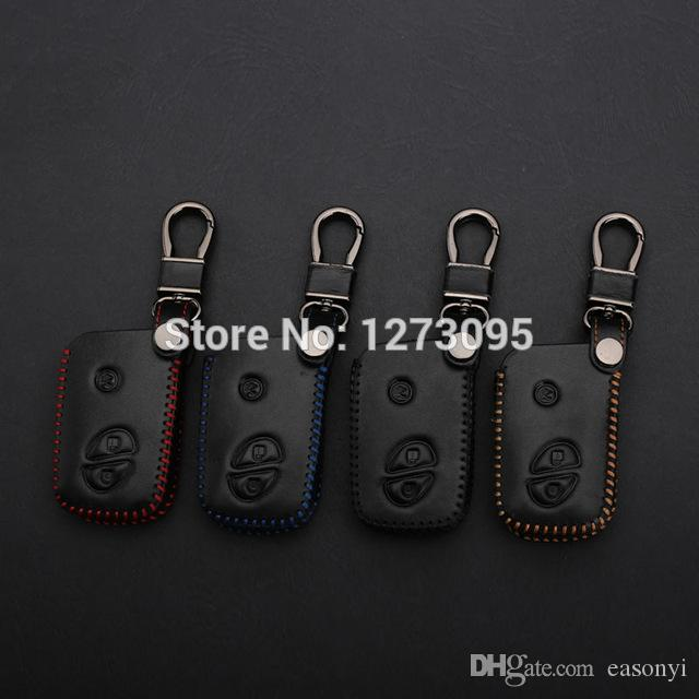 Hand Stitched Sewing Leather Car Key Cover Case for LEXUS LS460 LS600h LX570 GS300 GS430 RX450h RX350 Remote Key Accessories